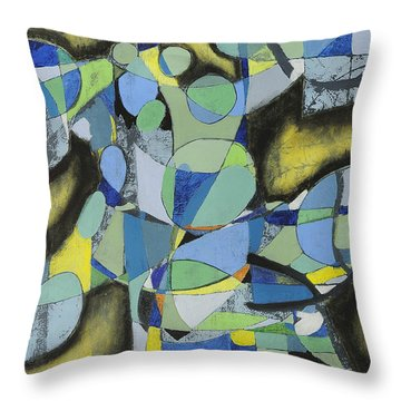 After The Tree Fell Throw Pillow by Mark Jordan