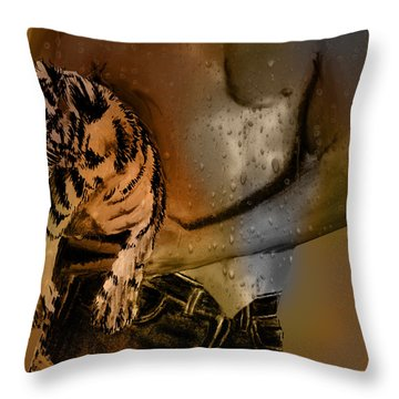After The Workout Throw Pillow by EricaMaxine  Price