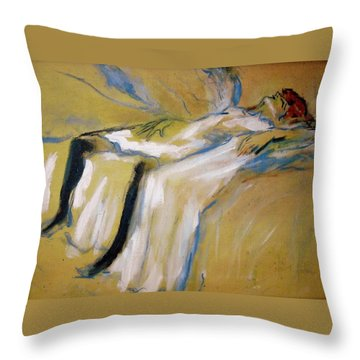 after Toulouse Lautrec Throw Pillow by Jodie Marie Anne Richardson Traugott          aka jm-ART