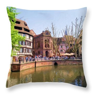 Afternoon Along The River Throw Pillow