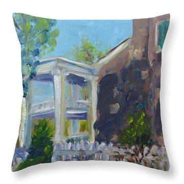 Afternoon At Carnton Plantation Throw Pillow by Susan E Jones