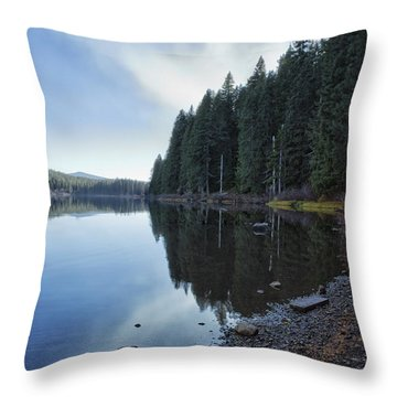 Afternoon At Clear Lake Throw Pillow