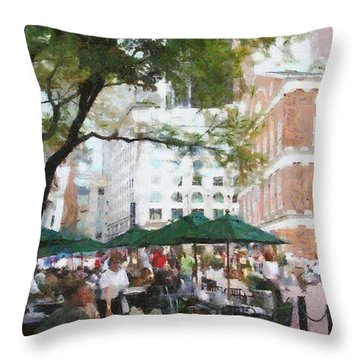 Afternoon At Faneuil Hall Throw Pillow