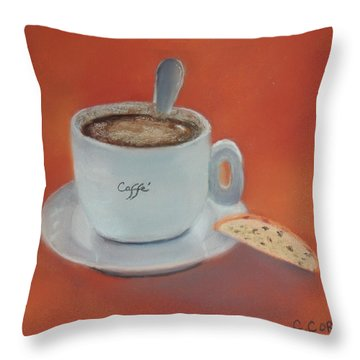 Afternoon Caffe Throw Pillow