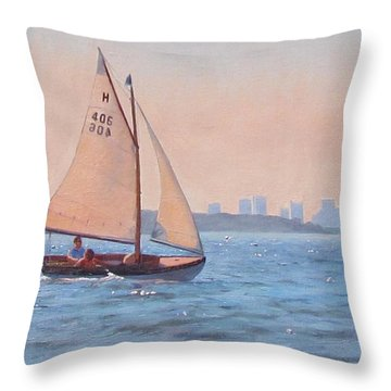 Afternoon Delight Throw Pillow by Dianne Panarelli Miller
