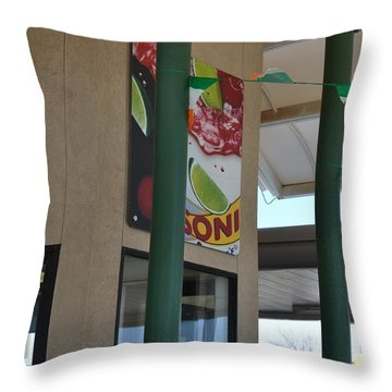 Afternoon Drink Throw Pillow