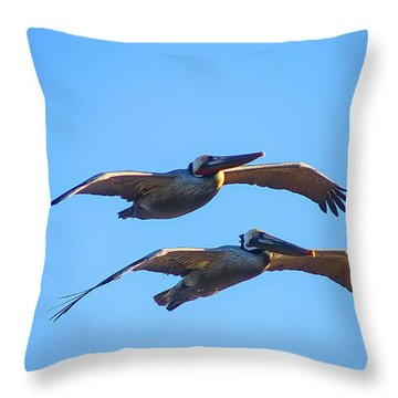 Afternoon Flight. Throw Pillow