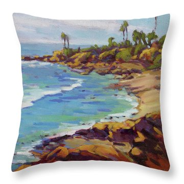 Afternoon Glow 2 /laguna Beach Throw Pillow