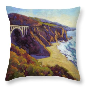 Afternoon Glow 3 / Big Sur Throw Pillow