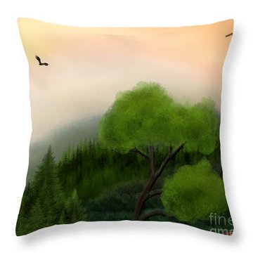 Afternoon Hills Throw Pillow by Thomas OGrady