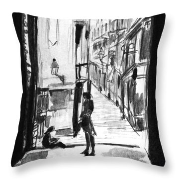 Afternoon In Barcelona  Throw Pillow by Hae Kim