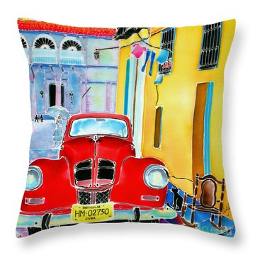 Afternoon In Havana Throw Pillow