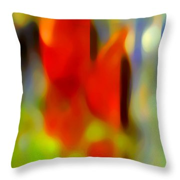 Afternoon In The Park Throw Pillow by Amy Vangsgard