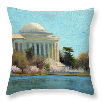 Jefferson Memorial Throw Pillows