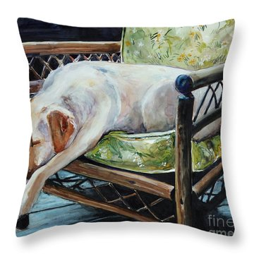 Afternoon Nap Throw Pillow by Molly Poole