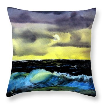 Afternoon On The Oceans Throw Pillow