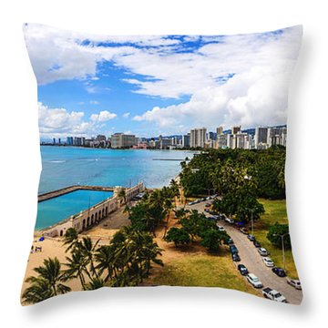 Afternoon On Waikiki Throw Pillow