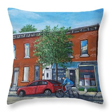 Afternoon Ride Pointe St Charles Throw Pillow by Reb Frost