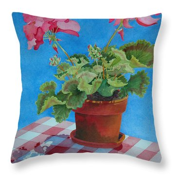 Afternoon Shadows Throw Pillow by Mary Ellen Mueller Legault