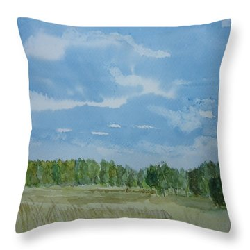 Afternoon Sky Throw Pillow