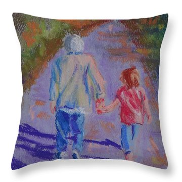Afternoon Stroll Throw Pillow by Carol Berning