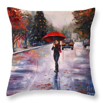 Afternoon Stroll Throw Pillow by Jennifer Beaudet
