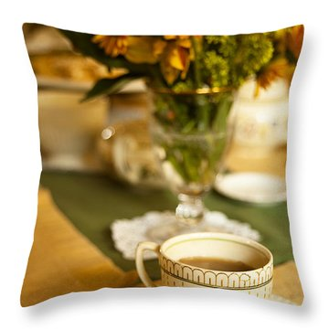 Afternoon Tea Time Throw Pillow