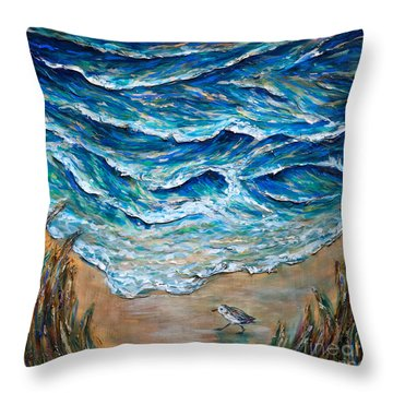 Afternoon Tide Throw Pillow by Linda Olsen