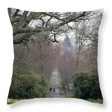 Afternoon Walk Throw Pillow by Kate Purdy