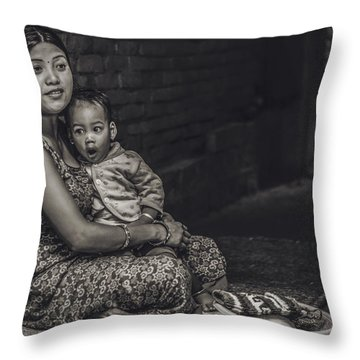 Afternoon Yawn Throw Pillow by Valerie Rosen