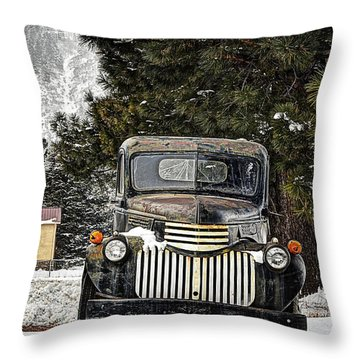 Afther The Snow Falls Verticle Throw Pillow by Ken Smith