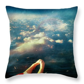 Again Throw Pillow