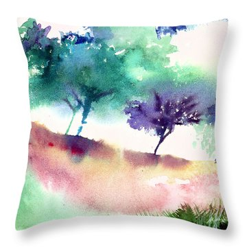 Against Light 1 Throw Pillow by Anil Nene