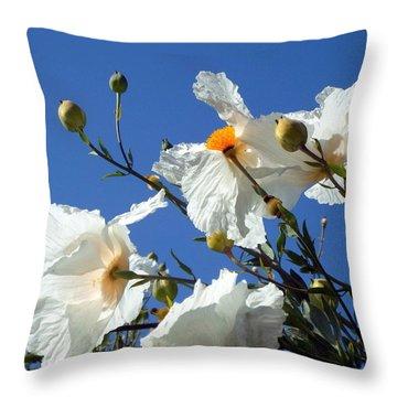 Against The Blue Sky Throw Pillow