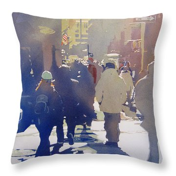 Against The Light Throw Pillow by Kris Parins