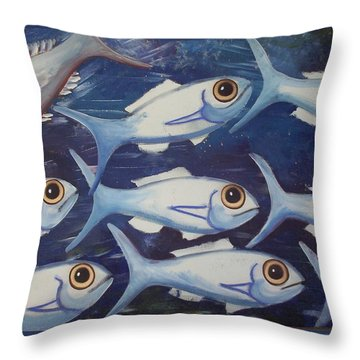 Against The Tide Throw Pillow