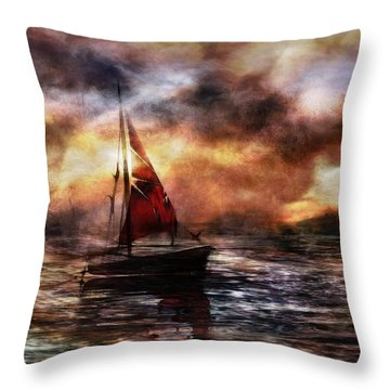Aganst The Fall Of Night II Throw Pillow