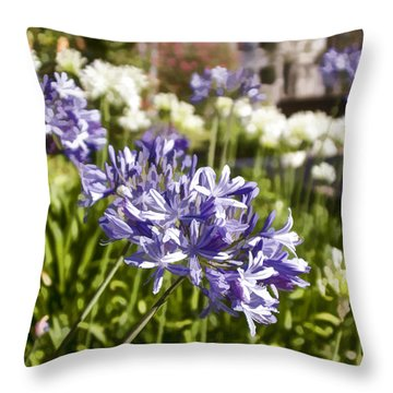 Agapanthus Lily Of The Nile Throw Pillow