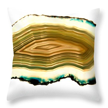 Agate 1 Throw Pillow by Gina Dsgn