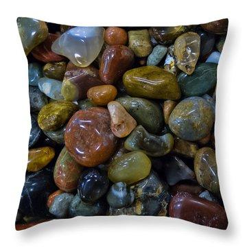 Agates Pillow Throw Pillow