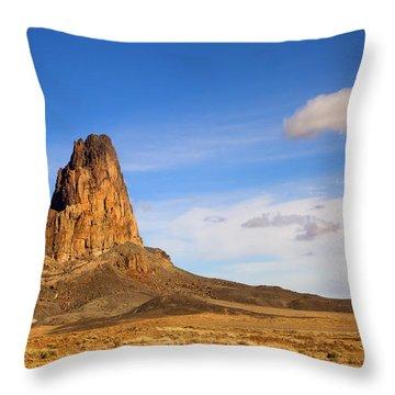 Agathia Peak Throw Pillow by Mike  Dawson