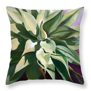 Agave 1 Throw Pillow by Synnove Pettersen