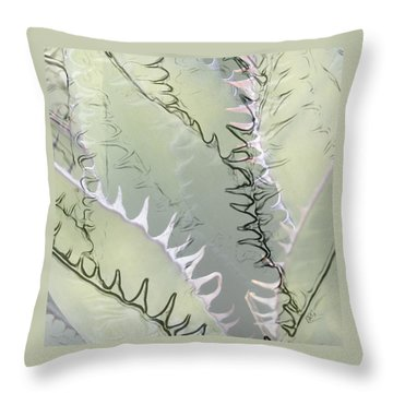 Agave Abstract Throw Pillow by Ben and Raisa Gertsberg