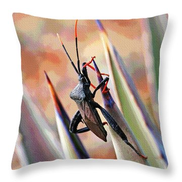 Agave Bug  Throw Pillow by Tom Janca