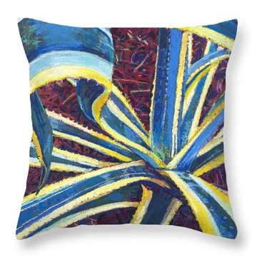 Agave II Throw Pillow by David Randall