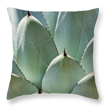 Agave Leaves Throw Pillow by Kelley King