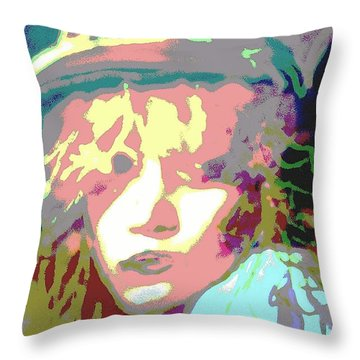 Age Of Aquarius Throw Pillow by Jacqueline McReynolds