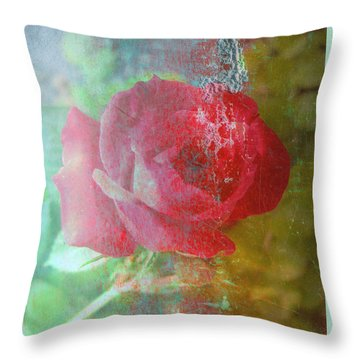 Ageless - Rose - Manipulated Images Throw Pillow