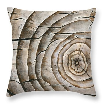 Ageless In Natural Throw Pillow