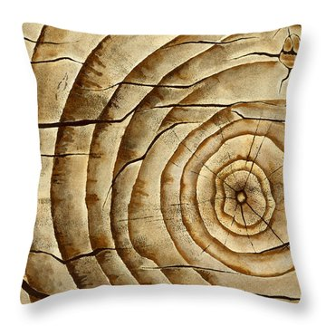 Ageless In Oak Throw Pillow